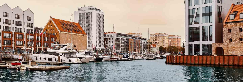 Gdansk. marina with yachts landscape