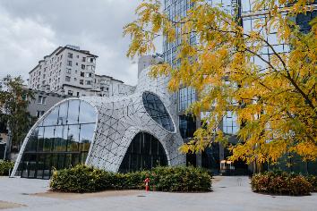 Warsaw, poland - september 29, 2019: european square