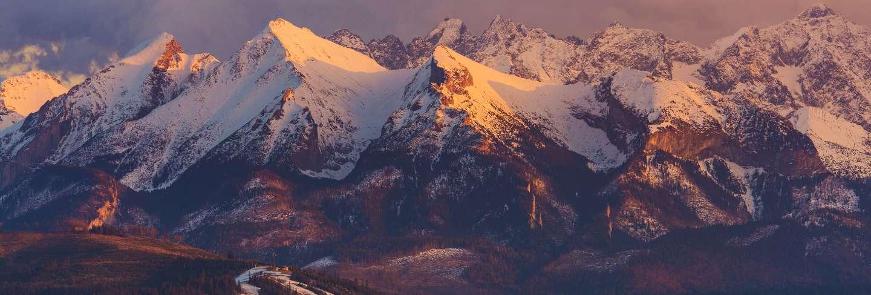 Scenic tatra mountain