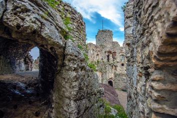 Castle in ogrodzieniec poland