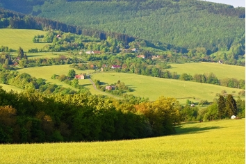Beautiful landscape in the mountains in summer. czech republic - the white carpathians - europe
