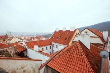 Top view of prague