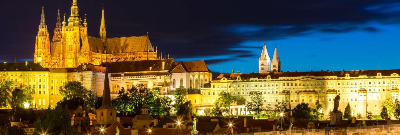 Prague sunset czech republic.