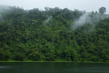 Idyllic river near costa rican rainforest