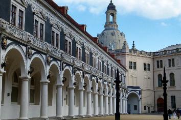 Dresden columns germany landmark tower building