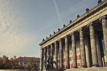 Beautiful shot of altes museum in berlin, germany