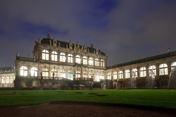 Zwinger palace at dresden in night