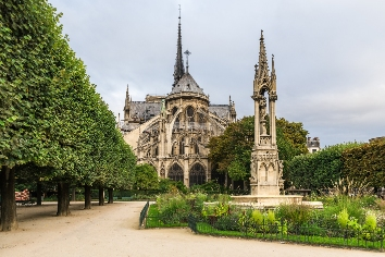 Notre dame de paris cathedral , paris, france