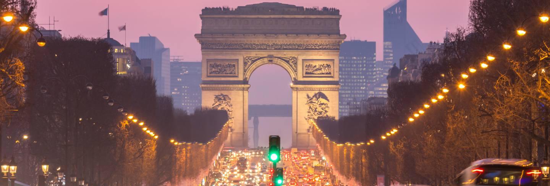 Arc of triomphe champs-elysees paris