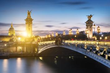Alexandre 3 bridge in paris, france