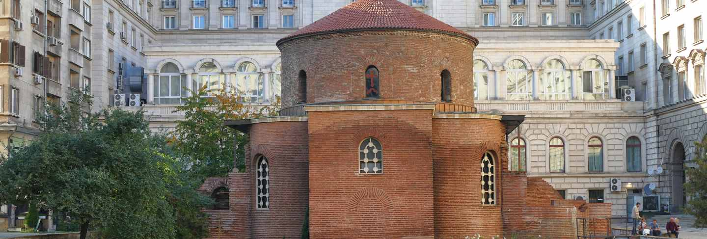 The church of san giorgio is a circular church from the early christian era built in serdica, the ancient name of sofia
