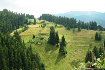 View from the central rhodope mountain, landscape