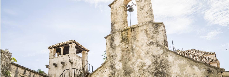 Low angle shot of the church sveti petar at daytime