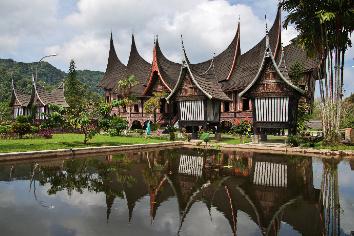 The temple on sumatra island, indonesia