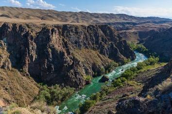 Charyn canyon in kazakhstan