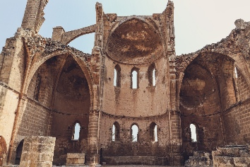 Ruins of church of st george of the greeks church, famagusta, northern cyprus