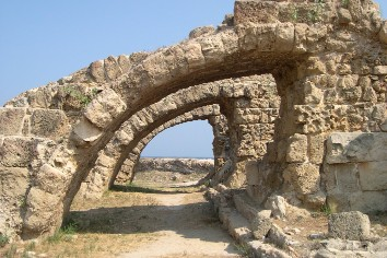 Roman ruins at salamis, north cyprus