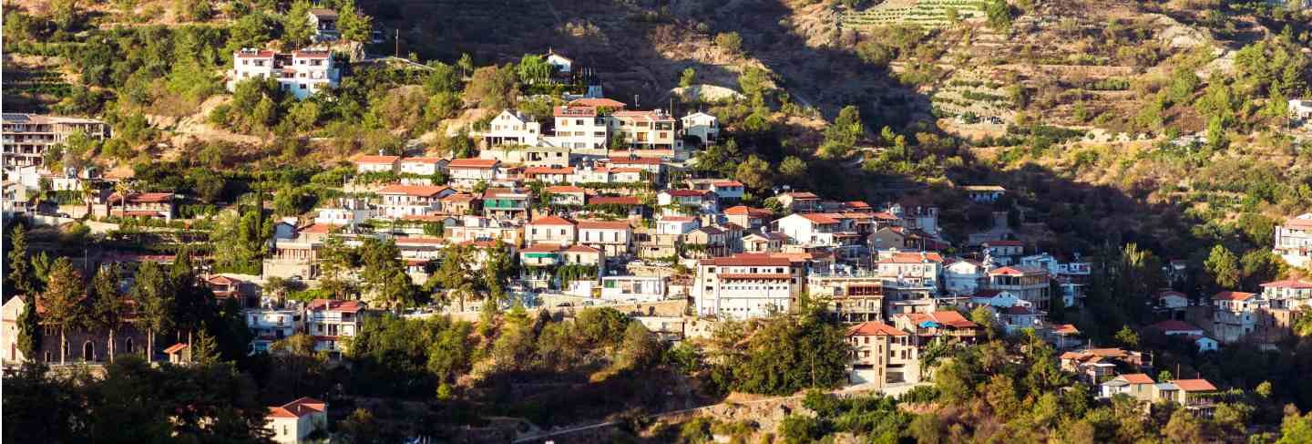 Agros, traditional mountain village. cyprus, limassol district