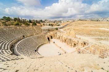 South theater, ancient roman city of gerasa of antiquity