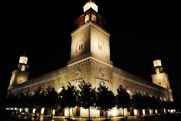 Mosque in night Premium Photo