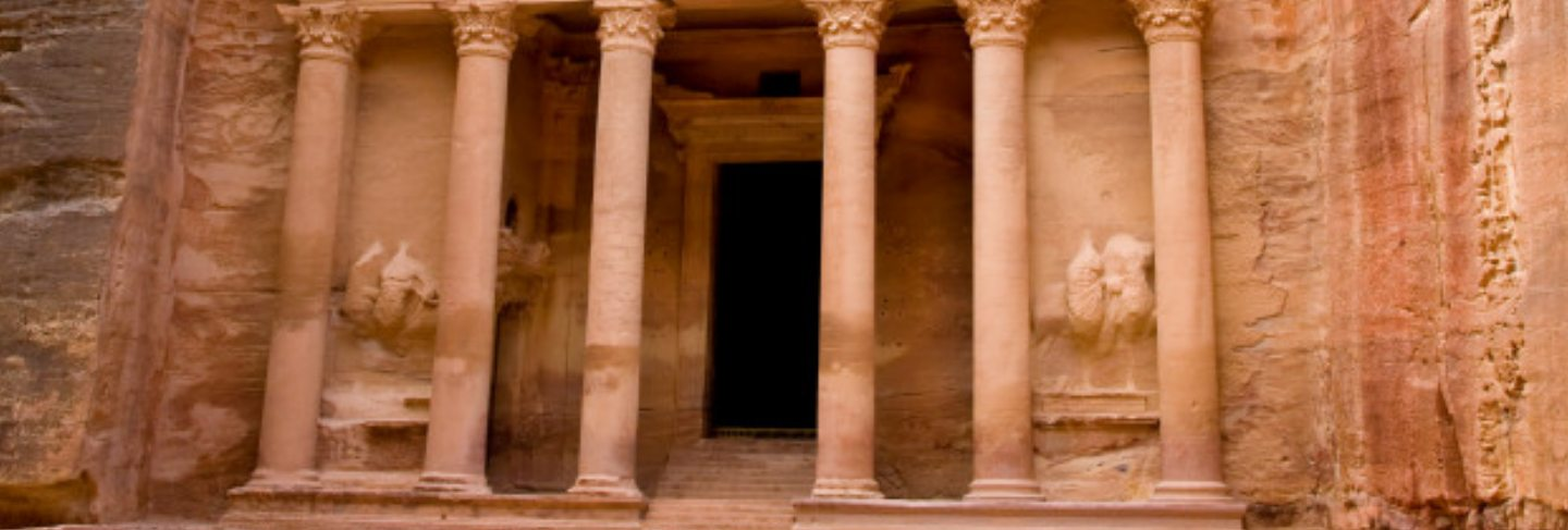 Ancient city of petra carved out of the rock, jordan