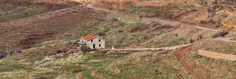 Qadisha valley in mountains of lebanon