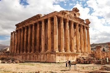 Ancient temple ruins of baalbek, lebanon