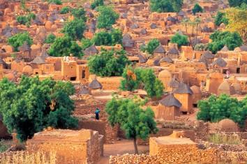 Dogon village of songo in mali
