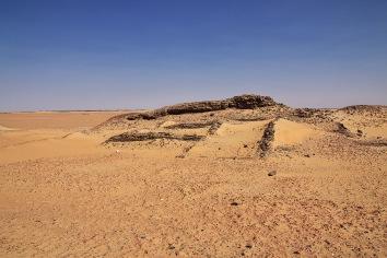 Ruins in sahara desert, africa