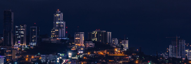 City lights of tegucigalpa
