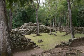Ruins at an archaeological site, copan, copan ruinas, copan department, honduras
