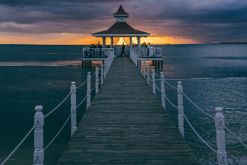 Gazebo sunset