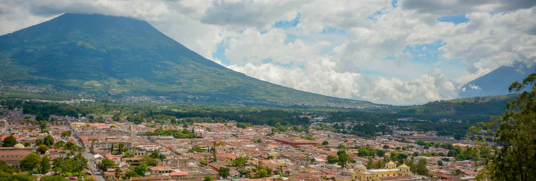Antigua guatemala view, volcano