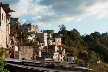 Houses on a hill, colonia bethania, guatemala city, guatemala