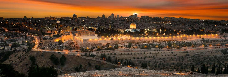 Jerusalem city by sunset