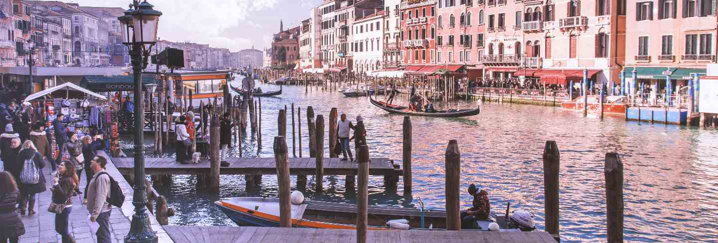 Beautiful grand canal in venice, italy