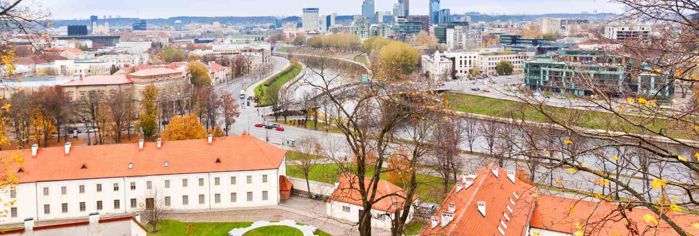 View of vilnius and the river neris