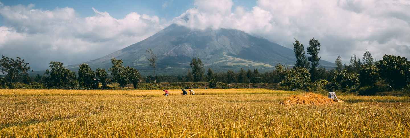 Great mayon volcano on luzon island philippines