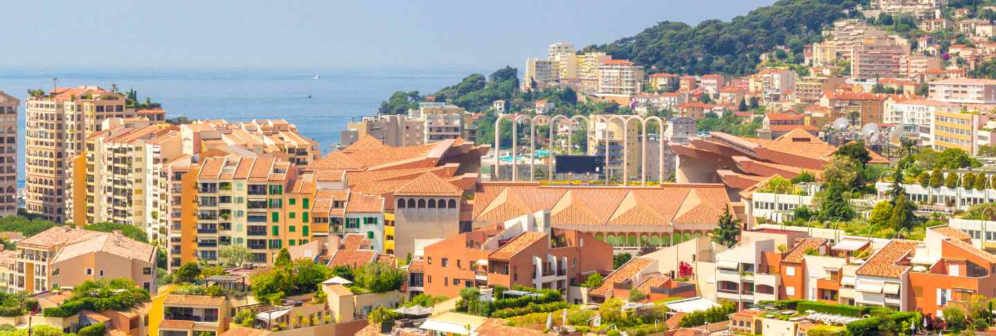 Cityscape of monte carlo in principality of monaco, southern france