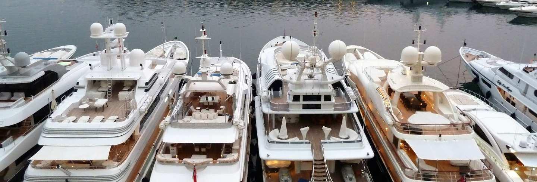 Evening pier monaco yacht expensive port
