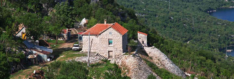 The village in albania mountains