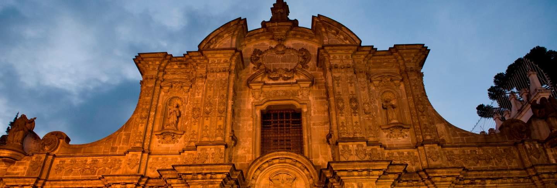 Low angle view of a church, company of jesus church, historic center, quito, ecuador