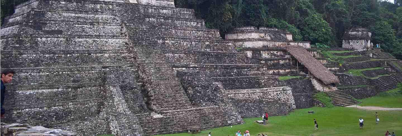Ancient ruins of maya, palenque, mexico