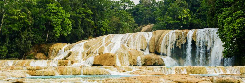 Agua azul waterfall in mexico