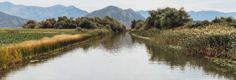 Lake skadar national park in montenegro
