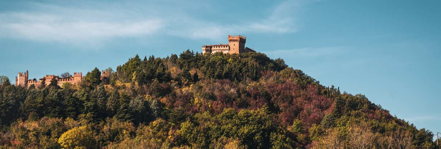 Wonderful view of the medieval castle of san marino