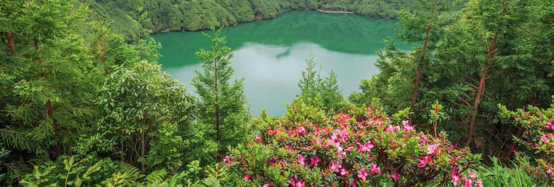 Lagoa de santiago. island sao miguel. azores. portugal