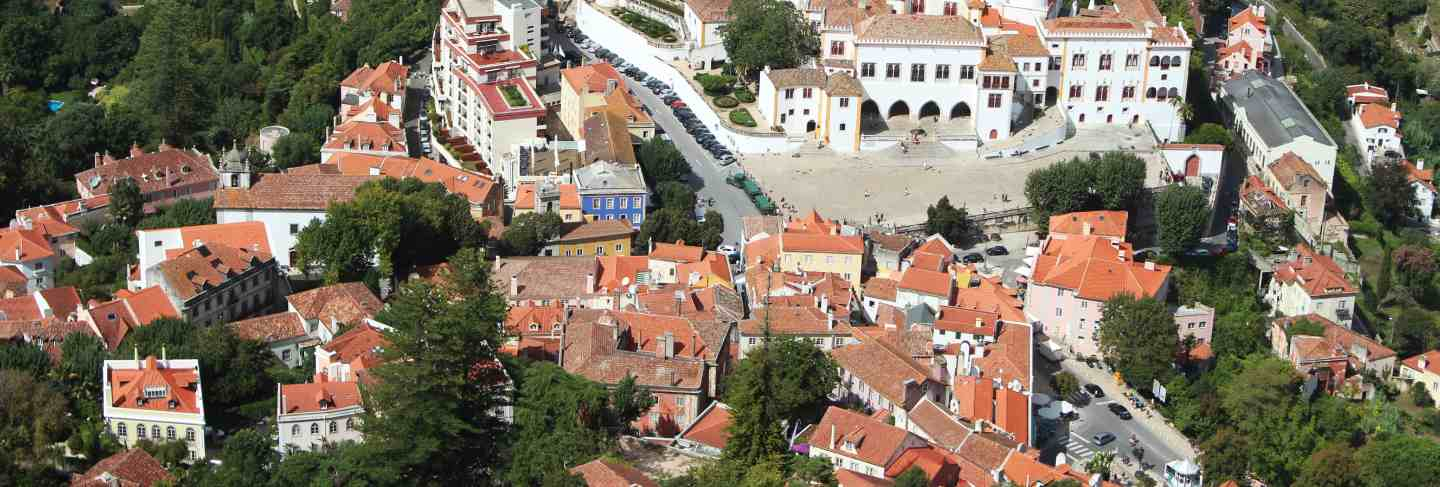 Aerial shot of beautiful architecture in lisbon, portugal