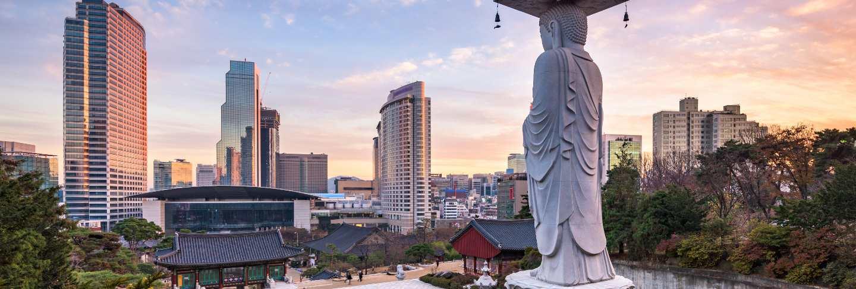 Bongeunsa temple in seoul city, south korea