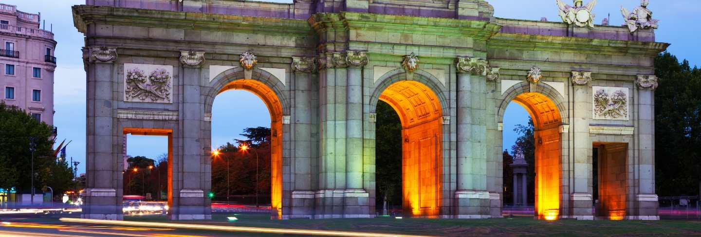 Gate of toledo in evening. madrid